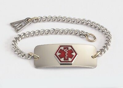 Medical Medical Id Bracelet -  BLANK  Medical Alert ID Bracelet - Built in the USA -FREE CUSTOM ENGRAVING