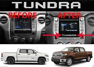(2) Chrome Vinyl Inserts For 2014-2018 Toyota Tundra Radio Bezel New Free Ship