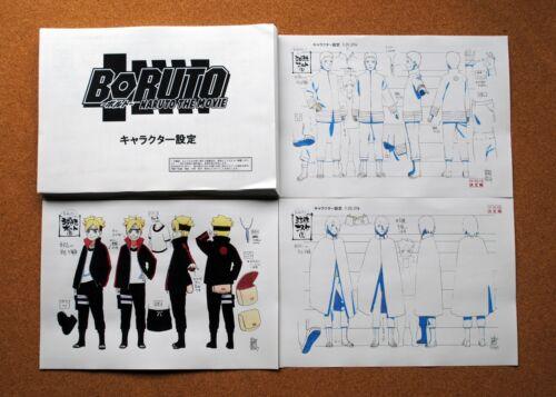 Naruto Boruto the movie settei sheets