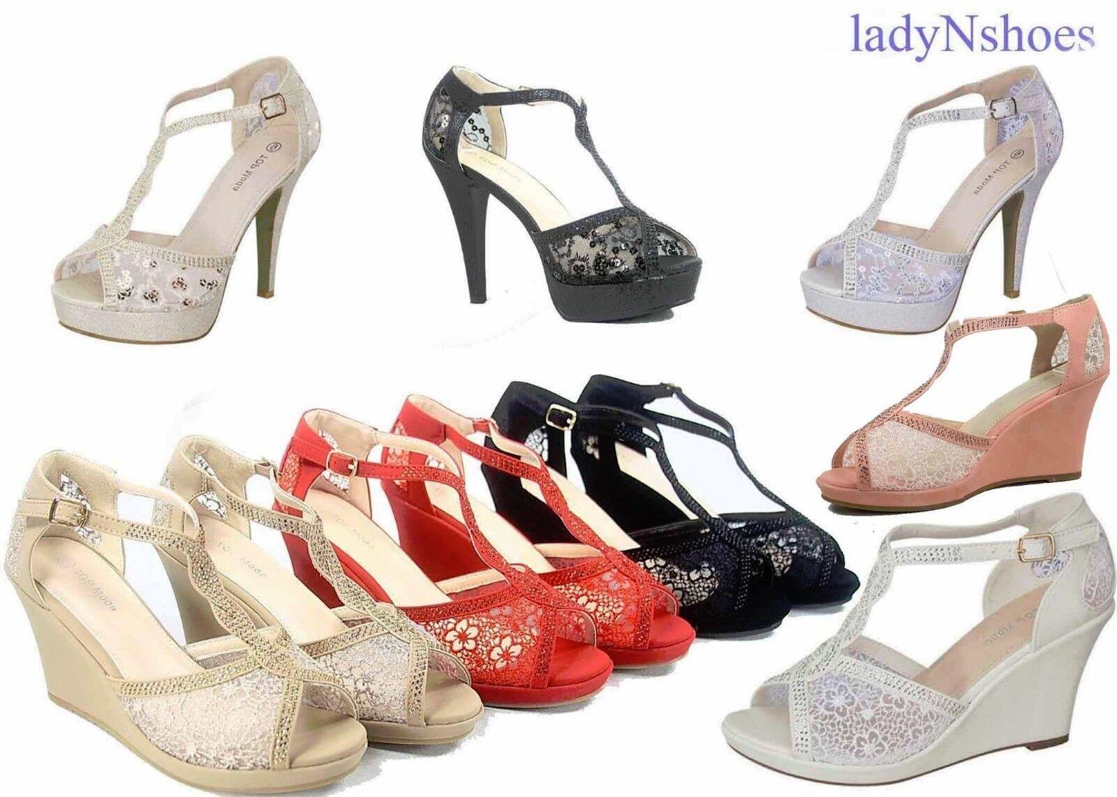 new bridal mesh high heel wedge platform