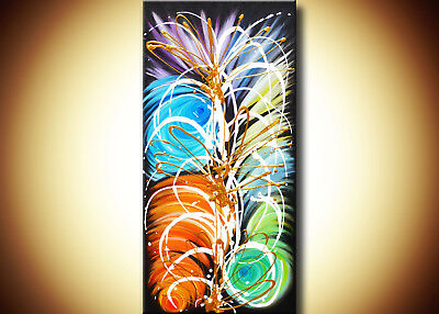 Modern Abstract Art, Colorful Artwork, Original Abstract Metallic Gold Painting for sale  Kelowna