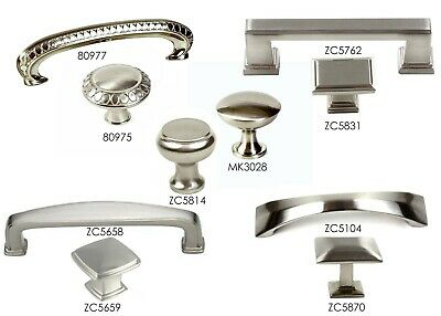 Knob Pull Handle Kitchen/Bath Cabinet Hardware in Brushed Nickel Collection Pull Knob Hardware