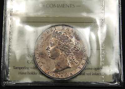 Click now to see the BUY IT NOW Price! 1881 H CANADA SILVER 50 CENT AU 55 ICCS   HIGH END QUEEN VICTORIA  COIN