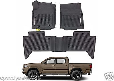 OEM PT908 36164 20 All Weather Floor Mats For 2016 2017 Toyota Tacoma Double Cab