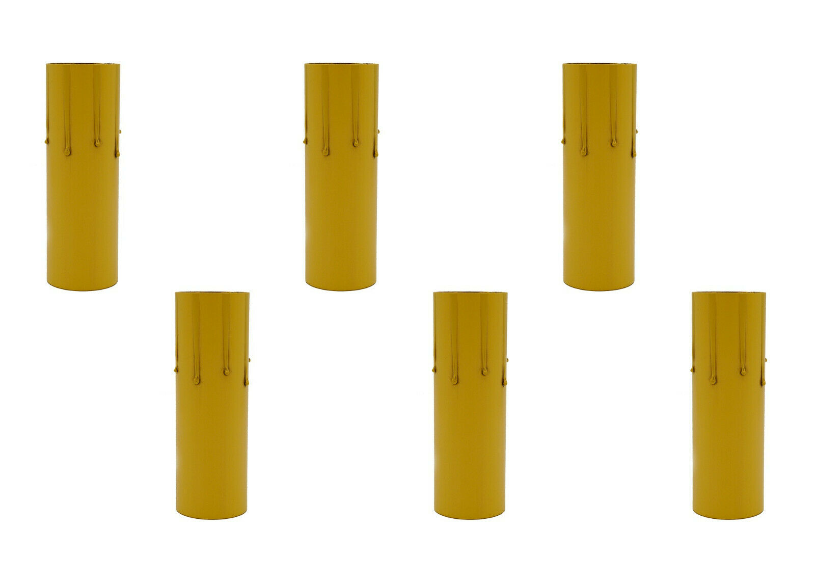 4″ Fibre Drip Candle Cover For Medium (Edison) Base Lamp Sockets, 25 Pieces Collectibles