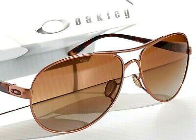NEW* Oakley Feedback Rose Gold Tortoise AVIATOR Women's Sunglass oo4079-01