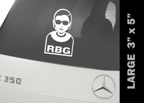 Notorious RBG Ruth Bader Ginsburg Iconic Decal Bumper Sticker