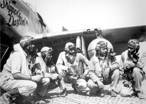Group of Tuskegee Airmen-Elite All African American 332nd Fighter Group Photo