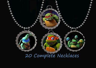 Teenage mutant ninja turtles tmnt  BottleCap Necklaces birthday party favors 20