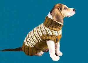 DOG COAT KNITTING PATTERN IN SLIP STITCH SIZE SMALL TO XL