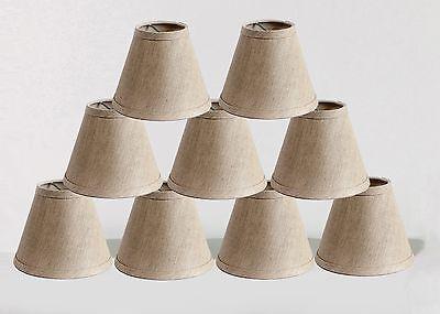 Urbanest Linen Chandelier Mini Lamp Shades,hardback, Oatmeal, 3x6x5