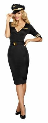 Ladies Pilot Aviator Outfit First Class Stewardess Costume Cabin Crew