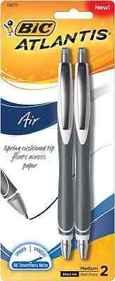 Bic Atlantis Air Ball Pens 2-pack Medium Black Ink 20007
