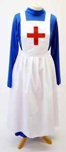 Wartime-WW2-1940's MILITARY NURSE'S APRON with CROSS Fancy Dress Accessory