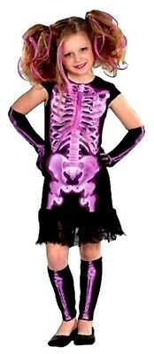 *NEW Girls Shocking X-ray Skeleton Halloween Costume Dress - Size Large 10-12](Shocking Halloween Costumes)