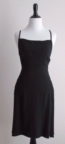 Vintage 90's COSTUME NATIONAL Strappy Backless Dress Sz 44/XS/S