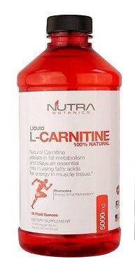 Nutra Botanics High Strength Liquid L Carnitine 5000 Mg  16 Oz  473 Ml