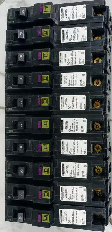 10 PCS Square D HOM120PDF HOM120PDFC  120V 20 amp Single Pole Circuit Breaker