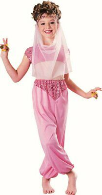 Aladdin Genie fancy dress costume girls Harem Girl Arabian Princess Outfit (Harem Girl Kostüm Aladdin)