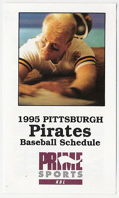 1995 Pittsburgh Pirates Mlb Schedule   Free Shipping