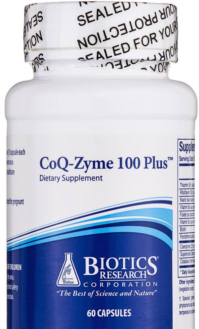 Biotics Research - CoQ-Zyme 100 Plus CoQZyme Emulsified CoQ10 100 mg 60 Capsules