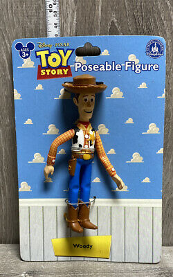 """Disney Parks Pixar Toy Story Woody 4"""" Poseable Action Figure NEW"""