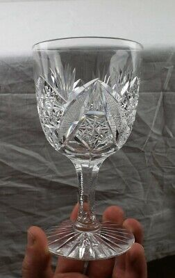 American brilliant Period ABP Cut Glass Water Goblet Mint