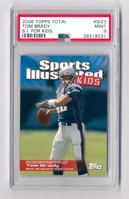 Tom Brady 2006 Topps Total S I  For Kids Psa 9 Mint Patriots Pop 2 Tuff Grade