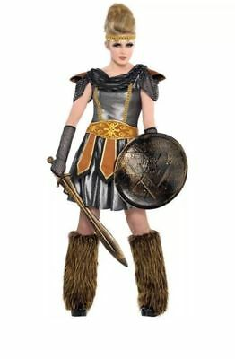 Warrior Princess Halloween Costume Amazon Roman Greek Junior Size Medium 7-9