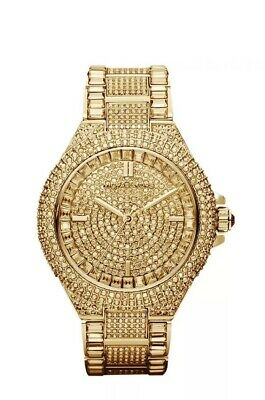 Michael Kors MK5720 Women's Camille Gold Tone Pave Crystal Glitz Ladies Watch