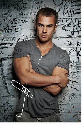 THEO JAMES PHOTO PRINT POSTER PRE SIGNED - 12 X 8 INCH - THE DIVERGENT - N.O 2