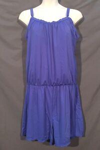 plus size SWIM 365 one piece JOGGER romper swimsuit 18w 1x periwinkle blue z