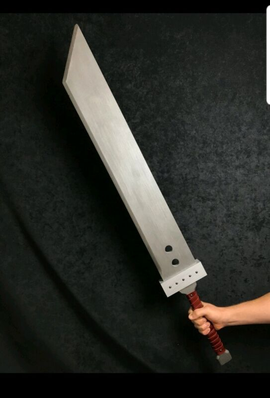 "Buster Sword Classic Replica Cloud Strife Cosplay Costume Prop Wood 48"" ff7"