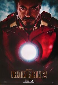 IRON MAN 2 Original Advance One Sheet Cinema Poster D/S ROBERT DOWNEY JNR