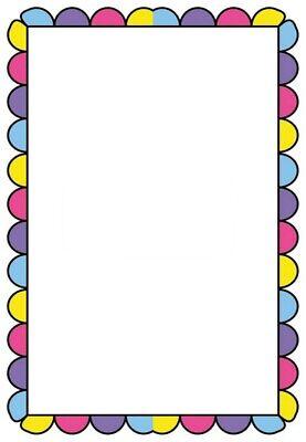 Motivpapier mit mehrfarbigem Rahmen 100g/qm (Papier Mit Rahmen)