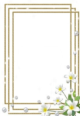 Motivpapier mit Blüten-Rahmen-Motiv, 100g/qm NEU (Papier Mit Rahmen)