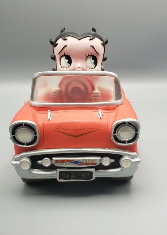2001 King Features Ceramic 1957 CHEVY Chevrolet BETTY BOOP BOBBER