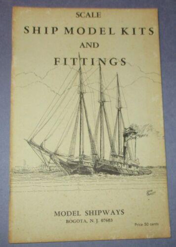 Vintage Scale Ship Model Kits And Fittings Catalog 1970 - Model Shipways