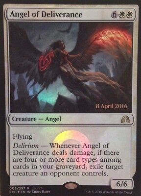 Magic: the Gathering MTG ANGEL OF DELIVERANCE FOIL LAUNCH DAY PROMO