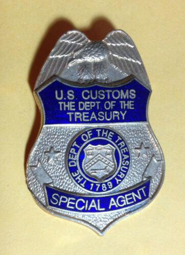 Vintage US Customs Department of the Treasury Special Agent Mini-Badge Pin Lapel