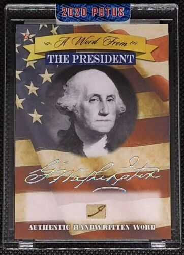 2020 A Word from POTUS Authentic Handwritten Word George Washington