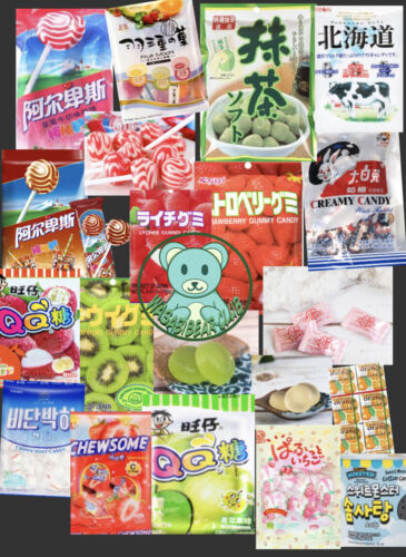 Asian Mini Candy box: 20 Pieces Korean, Japanese, Chinese & more