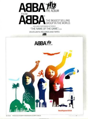 "1978 ABBA ""The Album"" Record Release Music Industry Promo Reprint Advert"