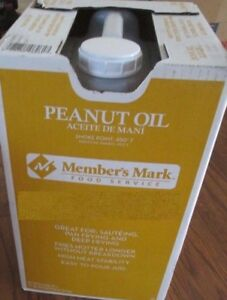 35 POUNDS PURE PEANUT OIL Perfect for sauteing pan deep turkey frying 4.5 gal