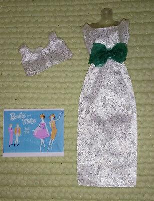 Barbie Clone Vintage 1960s HK Silver Sparkle Gown w/ Bow & Bolero Jacket Fashion