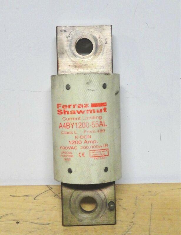 FERRAZ SHAWMUT - A4BY1200-55AL - 1200A - 600VAC - BUSSMANN Fuse (USED)