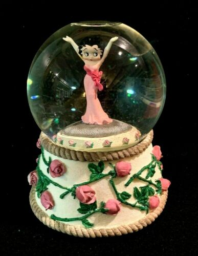 Betty Boop Musical Snowglobe- Bed of Roses- 1995 by Vandor