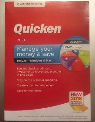 Quicken Deluxe 2018 Brand New Sealed