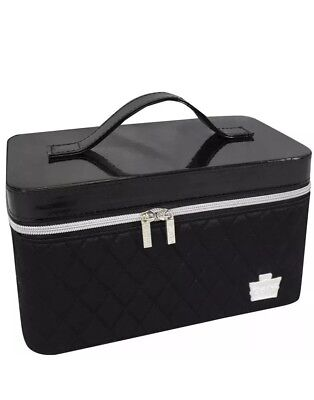 Caboodles iCandy Makeup Cosmetic Train Case Black Quilted Valet Storage Travel, used for sale  Yorkville
