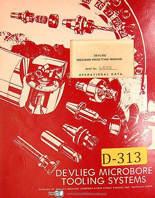 Devlieg Tool Ps104a Precision Pre-setting Machine Setup Operating Manual 1979